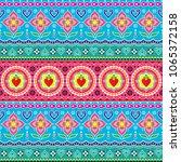 indian trucks art seamless... | Shutterstock .eps vector #1065372158