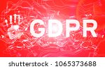 gdpr general data protection... | Shutterstock . vector #1065373688
