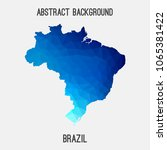 brazil map in geometric... | Shutterstock .eps vector #1065381422