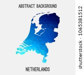 netherlands holland map in... | Shutterstock .eps vector #1065381512