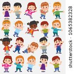 cartoon character boys and... | Shutterstock .eps vector #1065382328