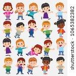 cartoon character boys and... | Shutterstock .eps vector #1065382382