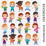 cartoon character boys and... | Shutterstock .eps vector #1065382418