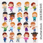 cartoon character boys and... | Shutterstock .eps vector #1065382445