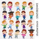 cartoon character boys and... | Shutterstock .eps vector #1065382445