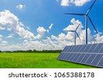 new energy  solar energy and... | Shutterstock . vector #1065388178