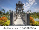 ujung water palace is a former...   Shutterstock . vector #1065388556