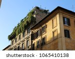 balcony on a roof | Shutterstock . vector #1065410138