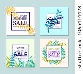 summer sale background  banners ... | Shutterstock .eps vector #1065414428