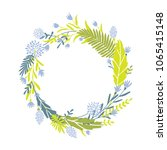 cute and elegant vector floral... | Shutterstock .eps vector #1065415148