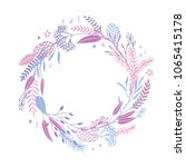 cute and elegant vector floral... | Shutterstock .eps vector #1065415178