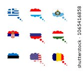 icon flag with flag of serbia ... | Shutterstock .eps vector #1065416858