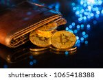 bitcoin gold coins with wallet  ... | Shutterstock . vector #1065418388