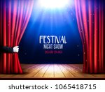 a theater stage with a red... | Shutterstock .eps vector #1065418715