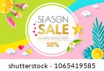 summer sale layout design... | Shutterstock .eps vector #1065419585