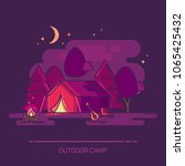 outside or outdoor night view... | Shutterstock .eps vector #1065425432