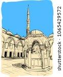 masque in istanbul   Shutterstock .eps vector #1065429572
