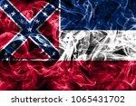mississippi state smoke flag ... | Shutterstock . vector #1065431702