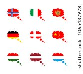 icon flag with montenegro ... | Shutterstock .eps vector #1065437978