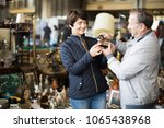 mature family couple buying... | Shutterstock . vector #1065438968