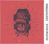 vintage hand drawn textured t... | Shutterstock .eps vector #1065439886
