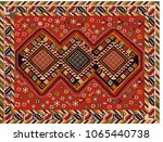 persian carpet  tribal vector... | Shutterstock .eps vector #1065440738