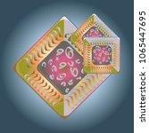 doodle bisquit cookie or... | Shutterstock . vector #1065447695