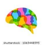 colorful  head of people in... | Shutterstock .eps vector #1065448595