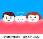 new baby tooth character... | Shutterstock .eps vector #1065448832