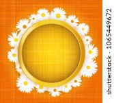round floral frame with lights... | Shutterstock .eps vector #1065449672
