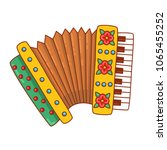 accordion russian bayan musical ... | Shutterstock .eps vector #1065455252