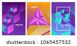 trendy covers design. dynamic...   Shutterstock .eps vector #1065457532