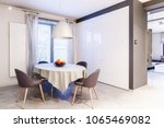 simple  spacious  white and...   Shutterstock . vector #1065469082