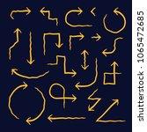 hand drawn arrow set  vector... | Shutterstock .eps vector #1065472685