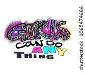 hipster funky t shirt  girls... | Shutterstock .eps vector #1065474686