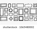 pattern with doodles frame | Shutterstock .eps vector #1065480002