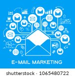 marketing mail concept.... | Shutterstock .eps vector #1065480722