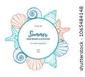 Summer Seashell Label. Hand...