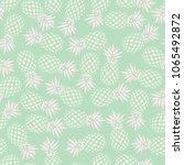 pineapple seamless pattern on... | Shutterstock .eps vector #1065492872
