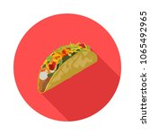 flat icon of mexican tacos in... | Shutterstock .eps vector #1065492965