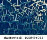 textures steel t bar  | Shutterstock . vector #1065496088