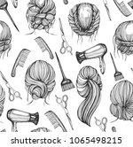 seamless pattern with graphic...   Shutterstock .eps vector #1065498215