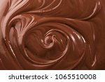 tasty melted chocolate as... | Shutterstock . vector #1065510008