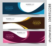 vector colorful wave banner web ... | Shutterstock .eps vector #1065512288