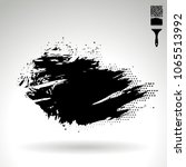 black brush stroke and texture. ... | Shutterstock .eps vector #1065513992