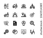 icons management with target ... | Shutterstock .eps vector #1065514385