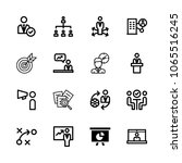 icons management with strategy  ...   Shutterstock .eps vector #1065516245