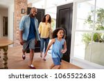 mixed race couple and their... | Shutterstock . vector #1065522638