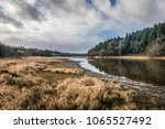 landscape of the jaunay lake... | Shutterstock . vector #1065527492