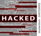 hacked electronics circuit... | Shutterstock . vector #1065528302